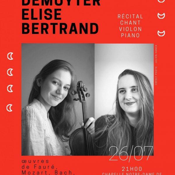Emmanuelle DEMUYTER et Elise BERTRAND le 26 juillet 2019