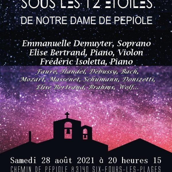 Quatrième édition des concerts d'été «Sous les douze étoiles de Notre-Dame de Pépiole»